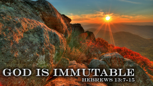 16 God Is Immutable